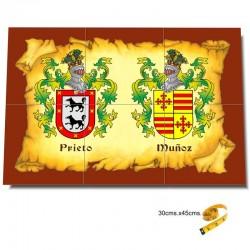 2 Escudos heráldicos en...