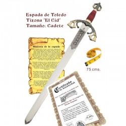 """Espada Tizona """"El Cid"""" cadete"""