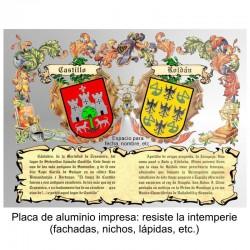 Heraldica impresa en placa...